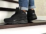 Мужские зимние кроссовки Nike Air Huarache (черные), фото 3