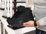 Мужские зимние кроссовки Nike Air Huarache (черные), фото 4