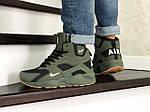 Мужские зимние кроссовки Nike Air Huarache (темно-зеленые), фото 2