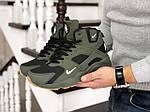 Мужские зимние кроссовки Nike Air Huarache (темно-зеленые), фото 5