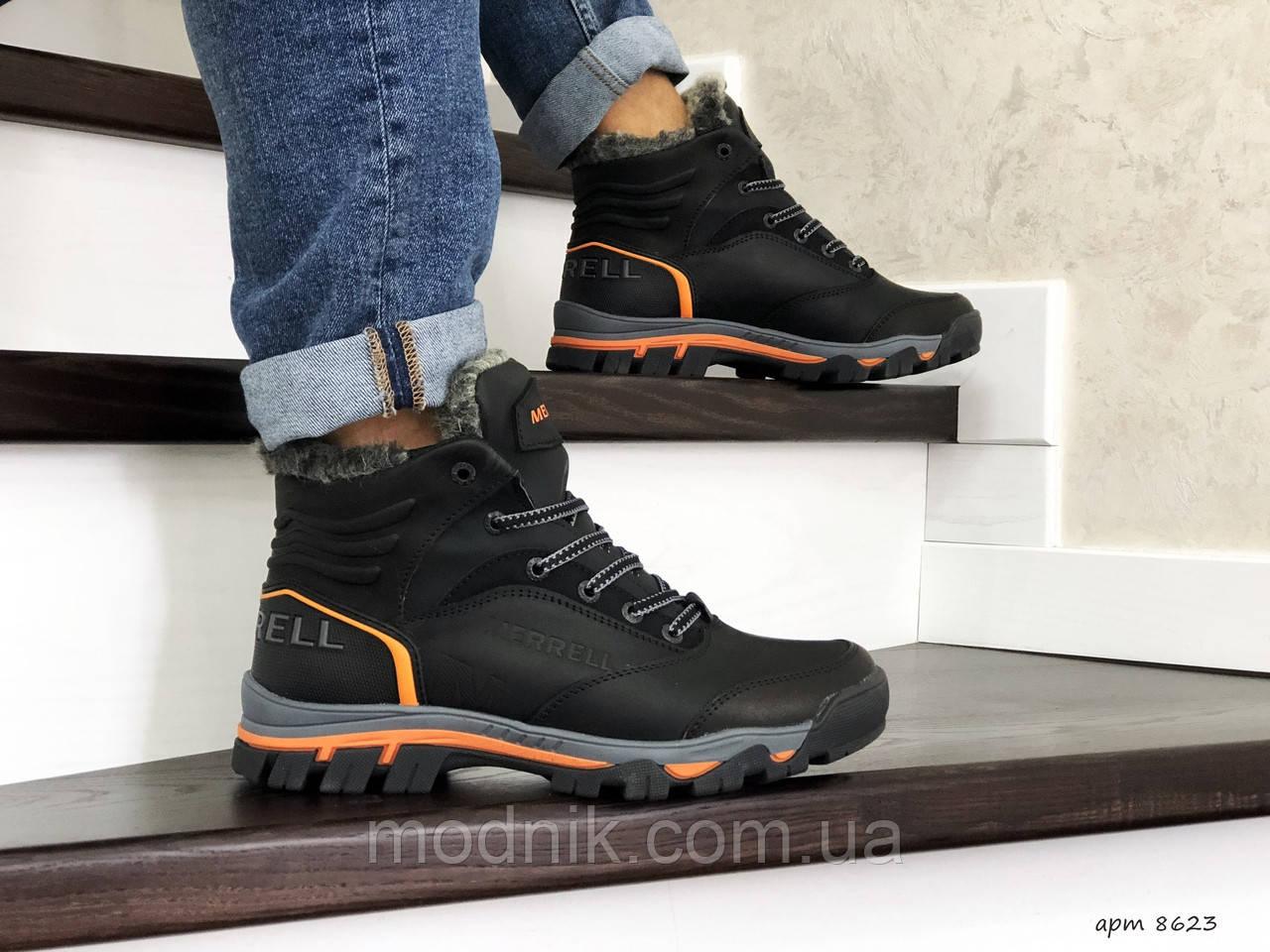Мужские зимние кроссовки Merrell (черные)