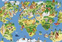 """Фотообои виниловые для детской комнаты """"Карта мира"""""""