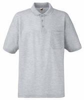 Мужская Рубашка Поло с карманом 65/35 S, 94 Серо-Лиловый