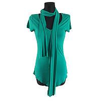 Зеленая футболка-туника Melrose