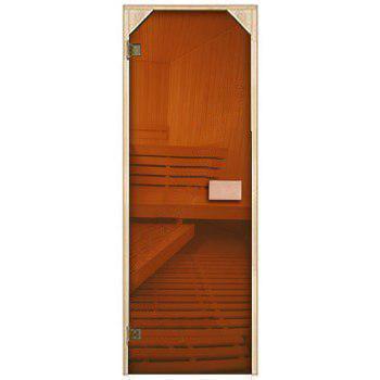 Двери для сауны Трапеция, бронза 70х190
