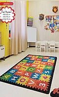 Ковер детский, безворсовый. 100х160см. Турция Puzzle