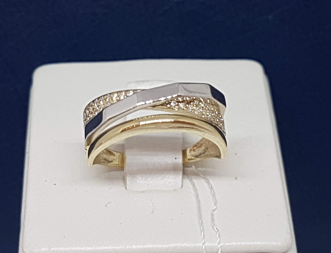 Золотое кольцо с фианитами. Артикул КВ1204ЛКИ 17,5