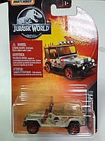 Машинка MatchBox 93 JEEP Wrangler Серия Jurassic World Матчбокс  Автомобиль 1:64