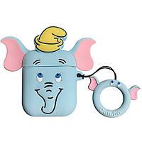 Чехол для наушников Apple AirPods Alitek Слоненок Dumbo Blue + держатель (88617), фото 1