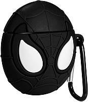 Чехол Case для Apple AirPods Alitek Marvel Spiderman (Спайдермен) Black + карабин (88619), фото 1