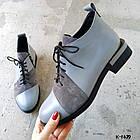 Женские зимние серые ботинки, из натуральной кожи (под заказ 7-16 дней), фото 6