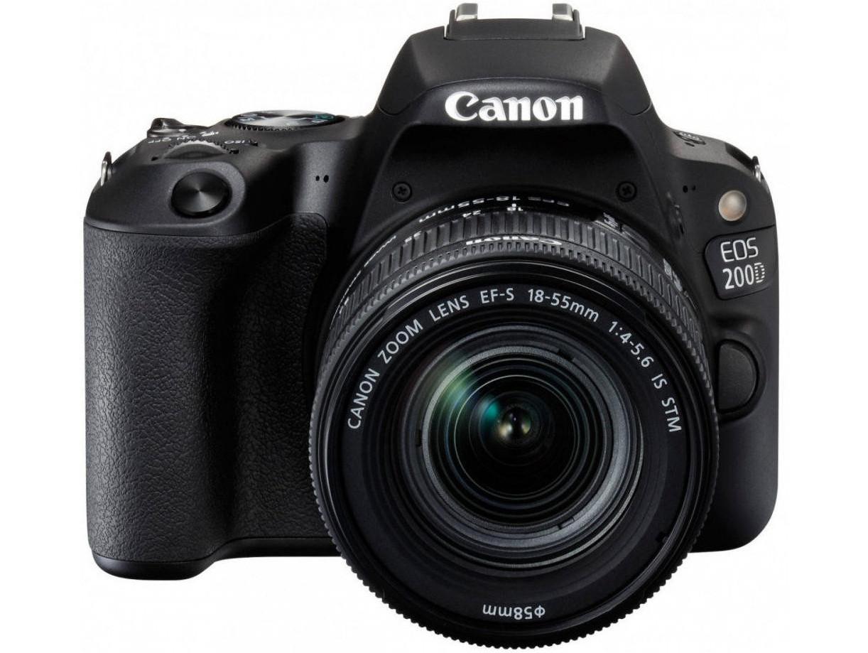 Зеркальный фотоаппарат CANON EOS 200D + CANON 18-55MM DC III + 75-300MM III