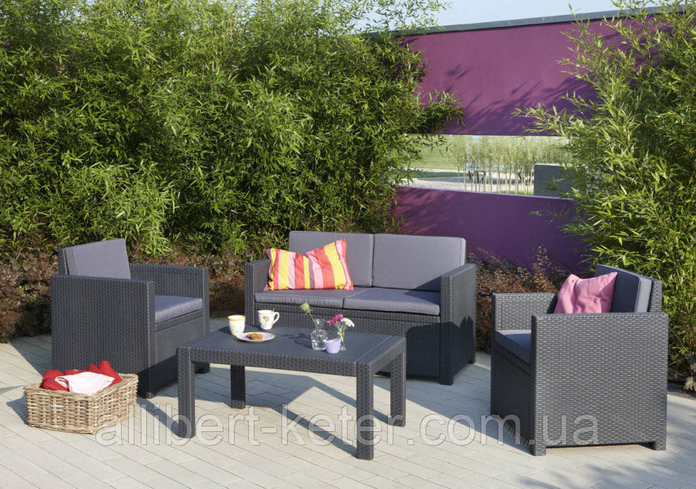 Набір садових меблів Victoria Lounge Set зі штучного ротанга ( Allibert by Keter )