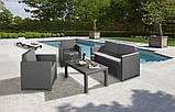 Набір садових меблів Victoria Lounge Set зі штучного ротанга ( Allibert by Keter ), фото 5