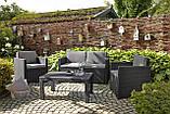 Набор садовой мебели Victoria Lounge Set из искусственного ротанга ( Allibert by Keter ), фото 8