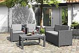 Набор садовой мебели Victoria Lounge Set из искусственного ротанга ( Allibert by Keter ), фото 9