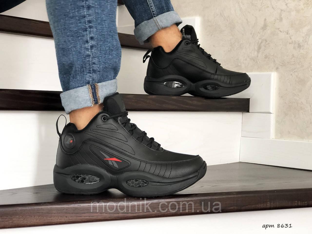Мужские зимние кроссовки Reebok I3 (черные)