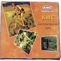 """Велосипедная цепь КМС  (модель Z33, размер 1/2""""х3/32"""", 114 звеньев, с замком)"""