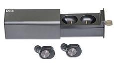 Беспроводные Bluetooth наушники вкладыши Qitech Coal Buds с функцией Handsfree черные (Qibuds), фото 3