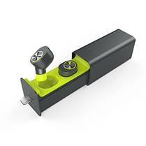 Беспроводные Bluetooth наушники вкладыши Qitech Coal Buds с функцией Handsfree, зеленые (Qibuds Gr), фото 3