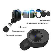 Беспроводные Bluetooth наушники вкладыши Qitech Coal Buds с функцией Handsfree, зеленые (Qibuds Gr), фото 2