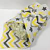Конверт на виписку для новонароджених в жовтому кольорі 80х100 см.