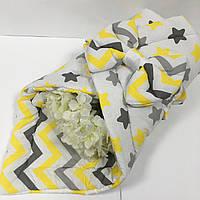 Конверт на виписку для новонароджених в жовтому кольорі 80х100 см., фото 1
