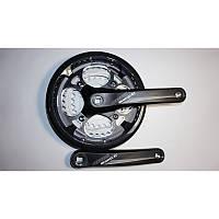 Шатун велосипедный в сборе PROWHEEL  (алюминиевый,  251P 28-38-48 зубов (модель  14),  разб.