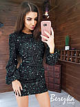 Женское платье с пайетками (в расцветках), фото 8