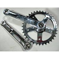 Шатун на велосипед (140 мм, 36 зубьев, под квадратный вал, комплект)