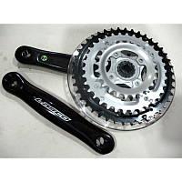 Велосипедный шатун LASCO (алюминиевый, 3CF1542SP,  зубья: 24,34,42)