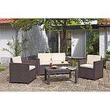 Набір садових меблів Victoria Lounge Set зі штучного ротанга ( Allibert by Keter ), фото 10
