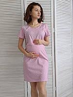 Легкая сорочка для кормящих Цветочек (розовый)