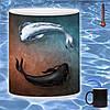 Кружка хамелеон Рыбы Инь и Янь 330 мл