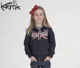 Детская толстовка для девочки Krytik Италия 74534/KR/00A Синий