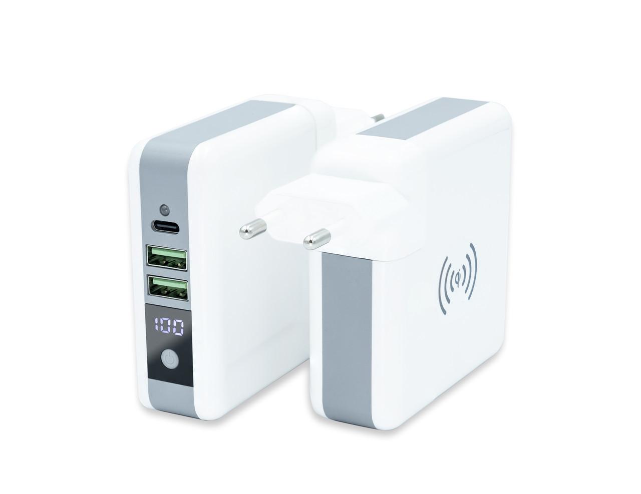 Универсальное зарядное устройство Qitech Travel Bank Charger 3 in 1 White (QT-TB01wh)
