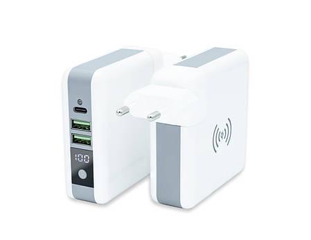 Универсальное зарядное устройство Qitech Travel Bank Charger 3 in 1 White (QT-TB01wh), фото 2