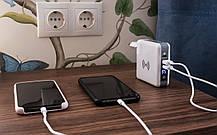 Универсальное зарядное устройство Qitech Travel Bank Charger 3 in 1 White (QT-TB01wh), фото 3