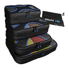 Комплект дорожных органайзеров для путешествий Shacke Pak (Черный) (SP002)