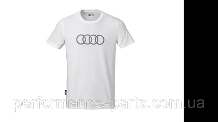 Мужская футболка Audi Rings Mens T-Shirt, White 3131701823