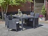 Набір садових меблів Girona Miami Garden Dining Set зі штучного ротанга ( Allibert by Keter ), фото 10