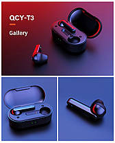 Беспроводные Bluetooth наушники вкладыши QCY T3 с сенсорным управлением (T3), фото 3