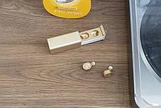 Беспроводные наушники Qitech Qibuds Bluetooth 5.0 цвет золото (Qibuds5.0gl), фото 3