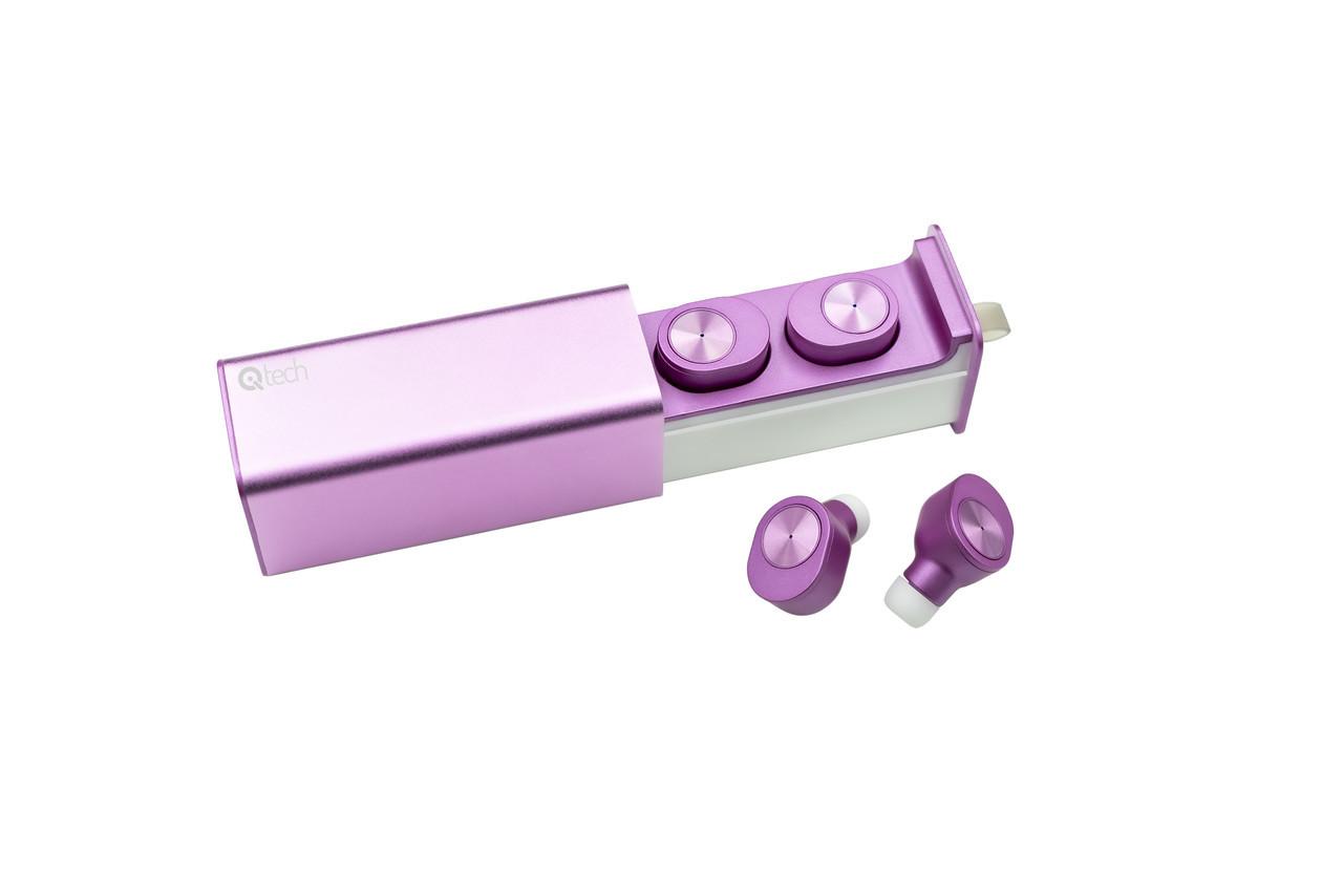 Беспроводные наушники Qitech Qibuds Bluetooth 5.0 цвет розовый (Qibuds5.0pk)