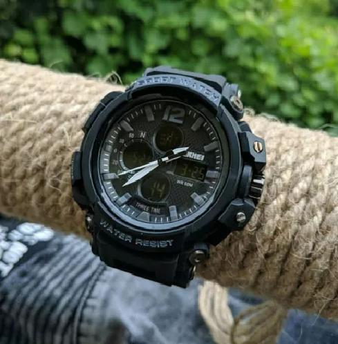 Спортивные мужские часы SKMEI Halk 1343  black / army green / khaki