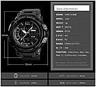Спортивные мужские часы SKMEI Halk 1343  black / army green / khaki, фото 2