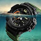 Спортивные мужские часы SKMEI Halk 1343  black / army green / khaki, фото 4