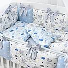 Комплект постельного белья Asik Спящие слоники на облаках голубого цвета 7 предметов (7-326), фото 3