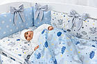 Комплект постельного белья Asik Спящие слоники на облаках голубого цвета 7 предметов (7-326), фото 6