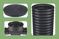 315-160-160 Дренажный смотровой канализационный колодец проходной MAGNAPLAST (Польша) холдинг Ostendorf
